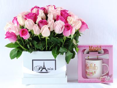 Set paris rosas rosa.