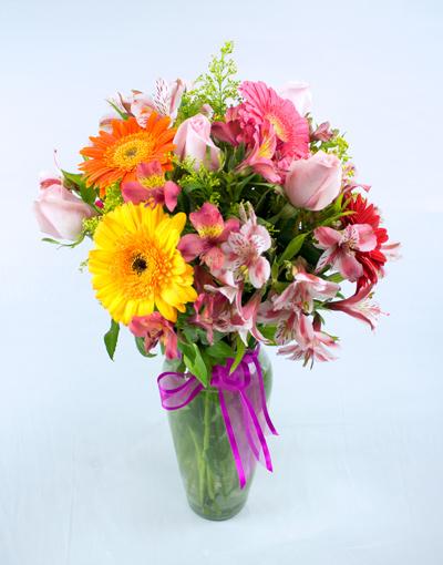 Florero primavera de cristal