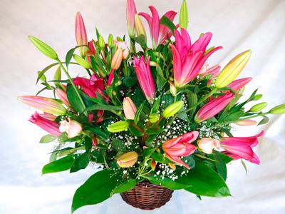 Arreglo floral con orientales