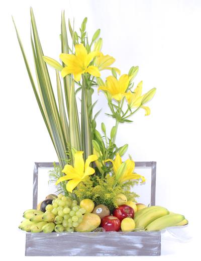 Frutal lilies amarillo caja vintage