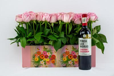Jardinera con vino tinto