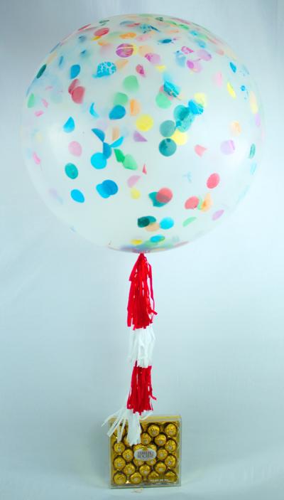Globo gigante con helio con chocolates ferrero