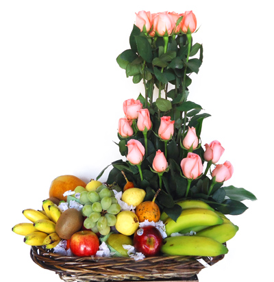 Arreglo floral frutal