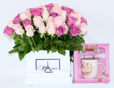 Set paris rosa lila.