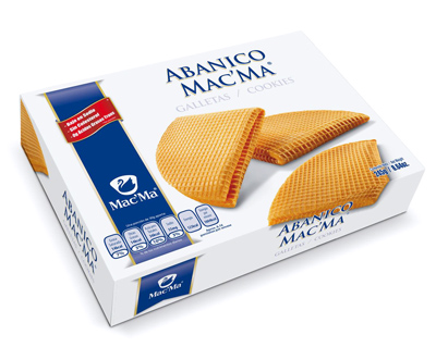 Galleta Abanico Mac´Ma 245g