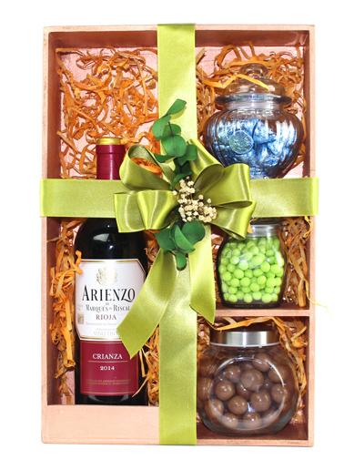 Kit de Vino Tinto Arienzo & Snack de Chocolate