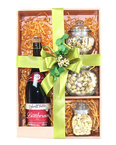 Kit de Vino Tinto World Table & Mix de Botana