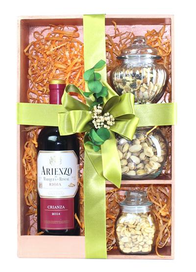 Kit de Vino Tinto Arienzo & Mix de Botana