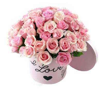 Bouquet redondo de rosas bombón