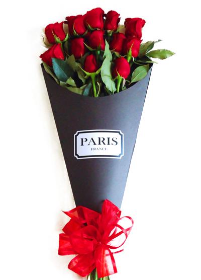 Bouquet Vintage Rosas Rojas