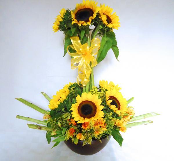 Arreglo floral girasoles