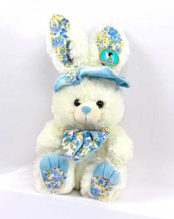 Oso de peluche conejita azul
