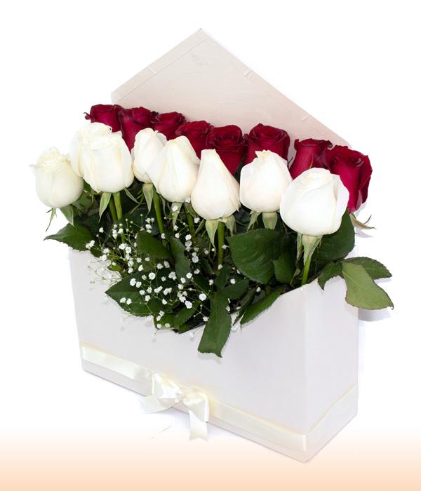 Sobre Blanco de Rosas Mixtas