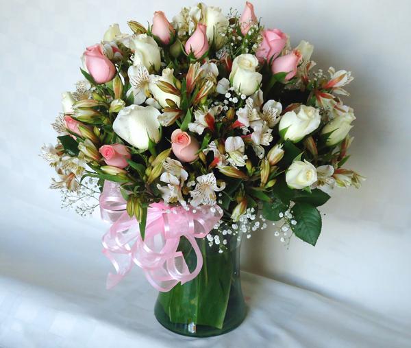 Florero transparente bouquet