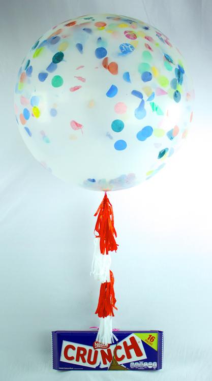 Globo gigante con helio con chocolate crunch
