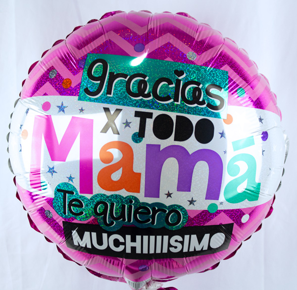 Globo con helio gracias por todo mama