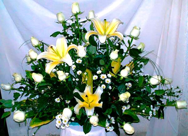 Arreglo floral funebre