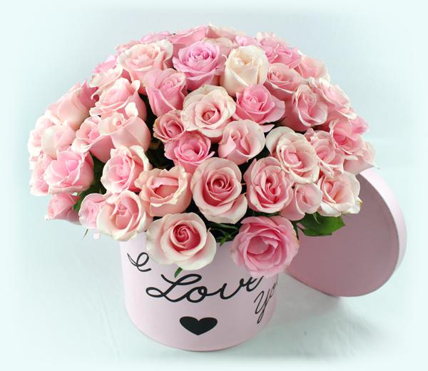 Bouquete redondo de rosas bombón