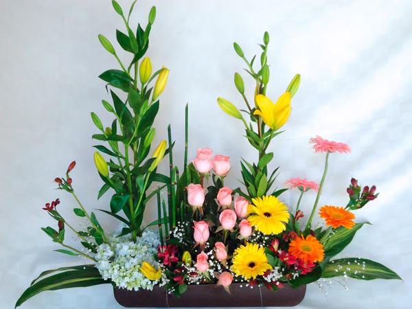 Jardinera mixta varias flores