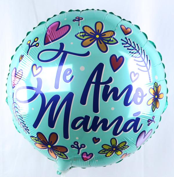 Globo con aire te amo mama.