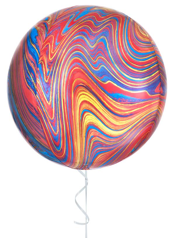 Globo con helio colourful marblez