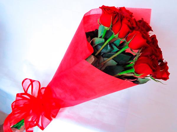 Bouquet de rosas rojas