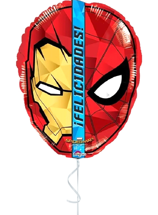 Globo con Aire Spiderman Felicidades