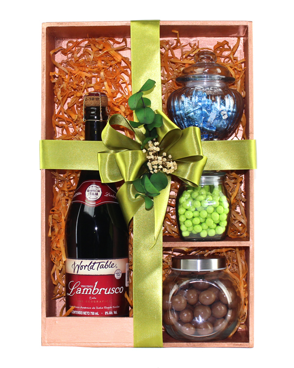 Kit de Vino Tinto World Table & Snack de Chocolate