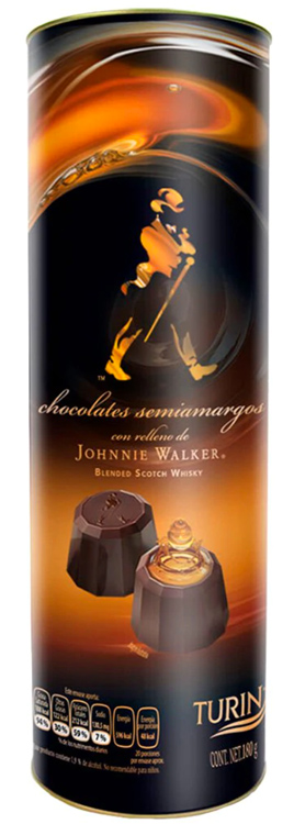 Chocolate Turín Relleno de Johnnie Walker