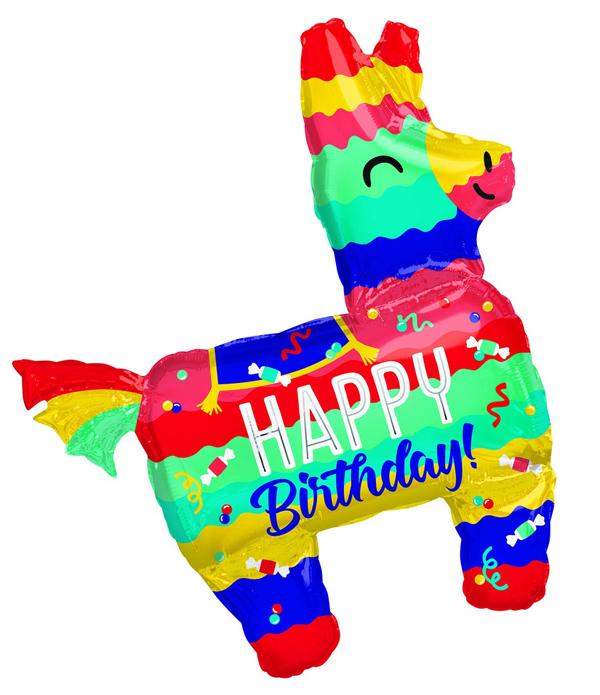 Globo con Helio Piñata Jumbo Feliz Cumpleaños