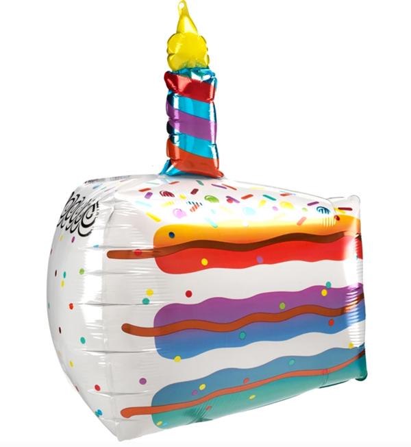 Globo con helio Rebanada de Pastel Colorido