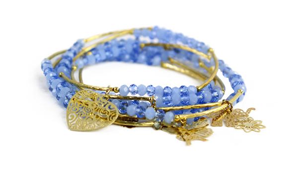 Semanario de cristal Azul 4mm