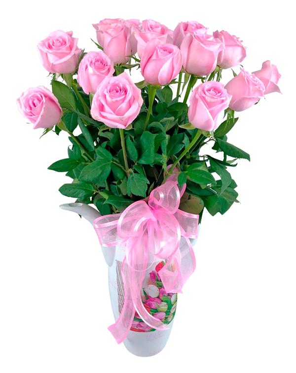 Tetera inglesa con rosas rosas