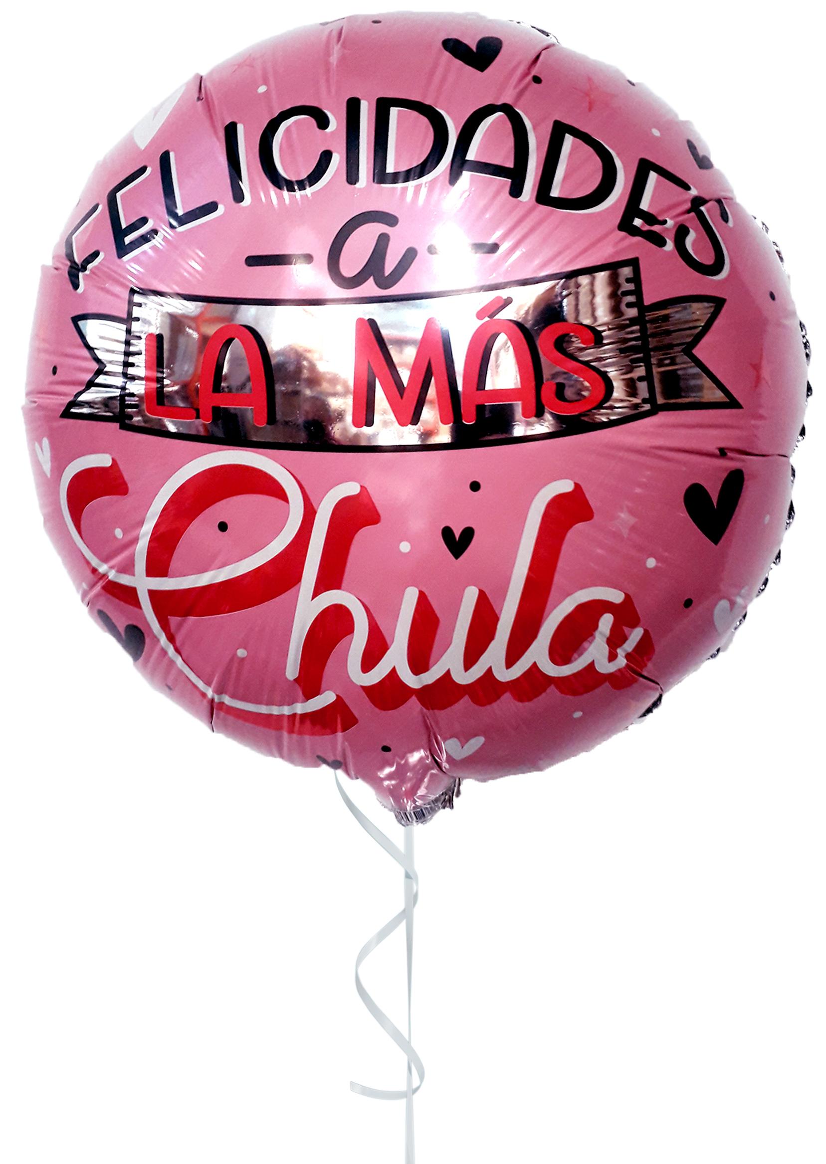 Globo con Helio Felicidades a la más chula de Mamá